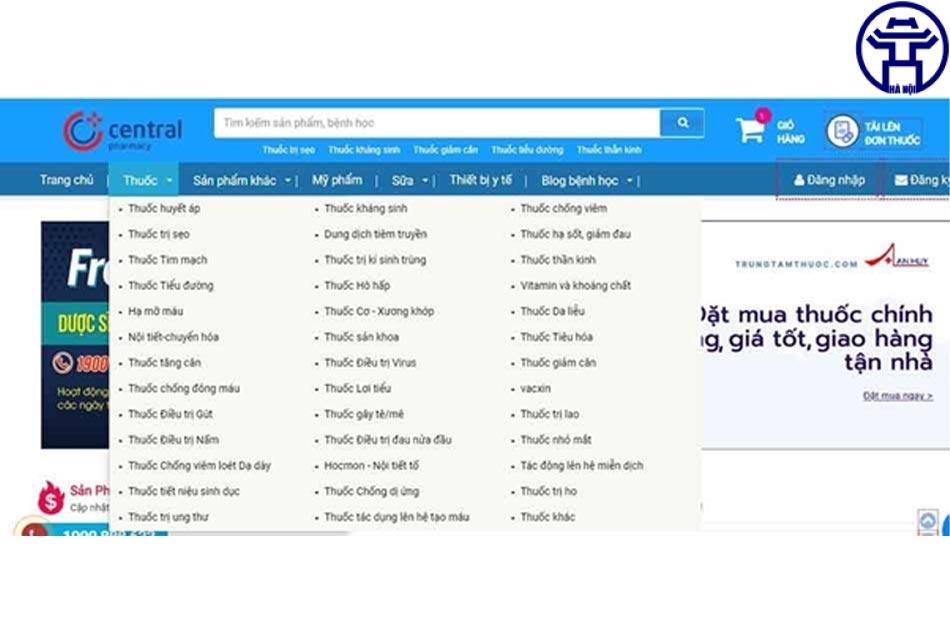 Nhà thuốc Online Trung Tâm Thuốc Central Pharmacy bán gì?