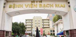 Cổng vào bệnh viện Bạch Mai