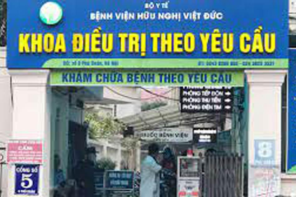 Khu điều trị theo yêu cầu của bệnh viện Việt Đức