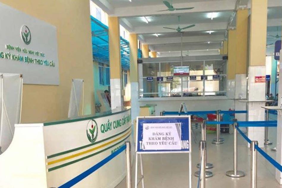 Dường vào nơi khám bệnh của bệnh viện