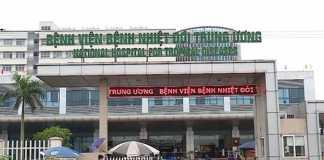 Cổng bào bệnh viện nhiệt đới tw