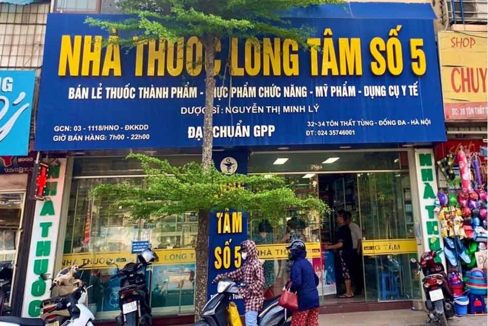 Hình ảnh nhà thuốc số 5 Long Tâm ở 32-34 Tôn Thất Tùng