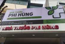 Biển hiệu nhà thuốc Phi Hùng