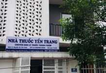 Hình ảnh nhà thuốc Yến Trang sau khi sửa lại biển