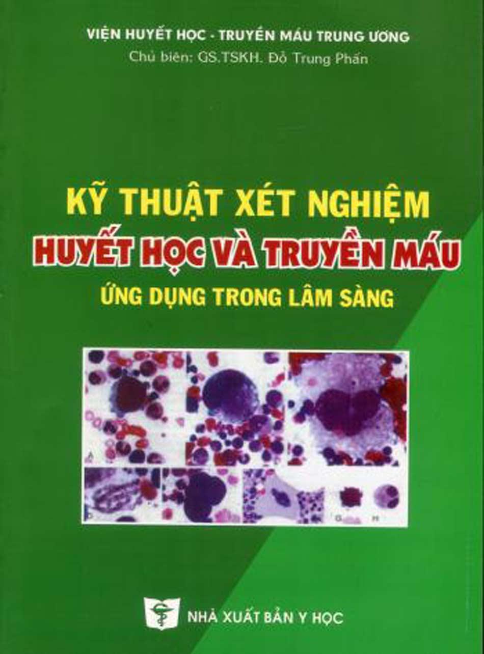 Sách do viện huyết học - truyền máu trung ương biên soạn