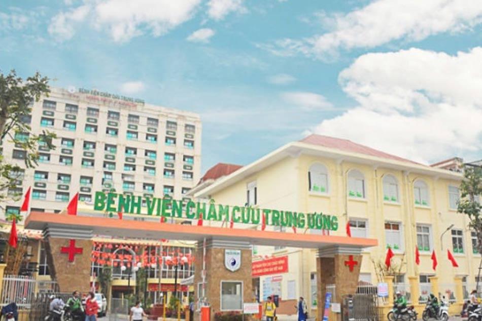 Cổng khác của bệnh viện Châm cứu Trung ương