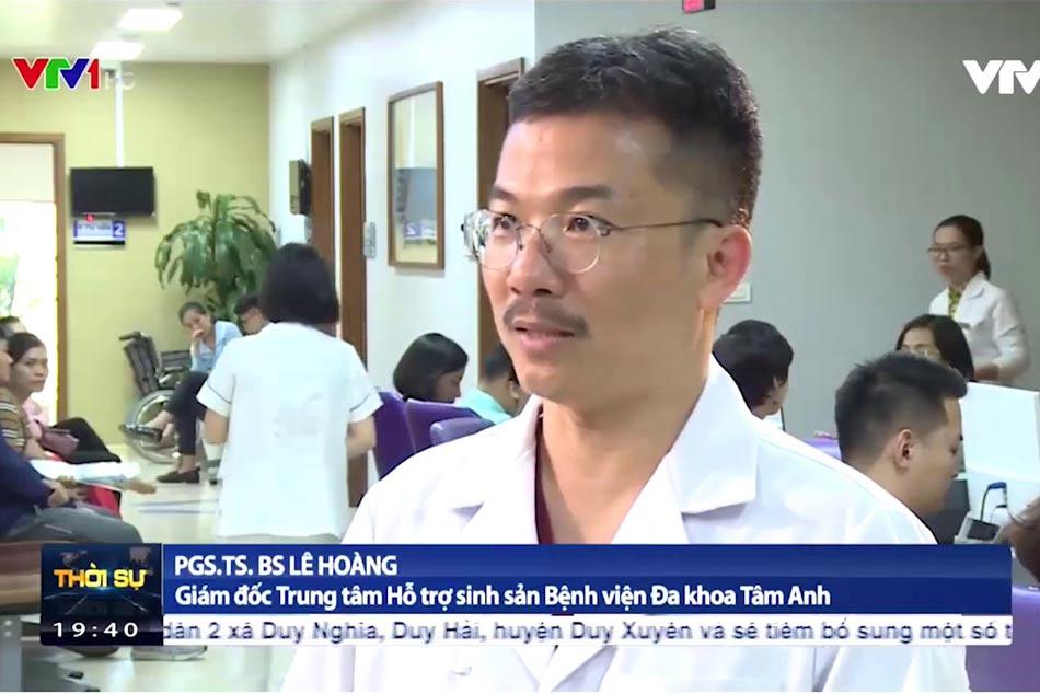 PGS. TS. BS. Lê Hoàng lên vtv1 trình bày về các phương pháp mới được áp dụng tại bệnh viện