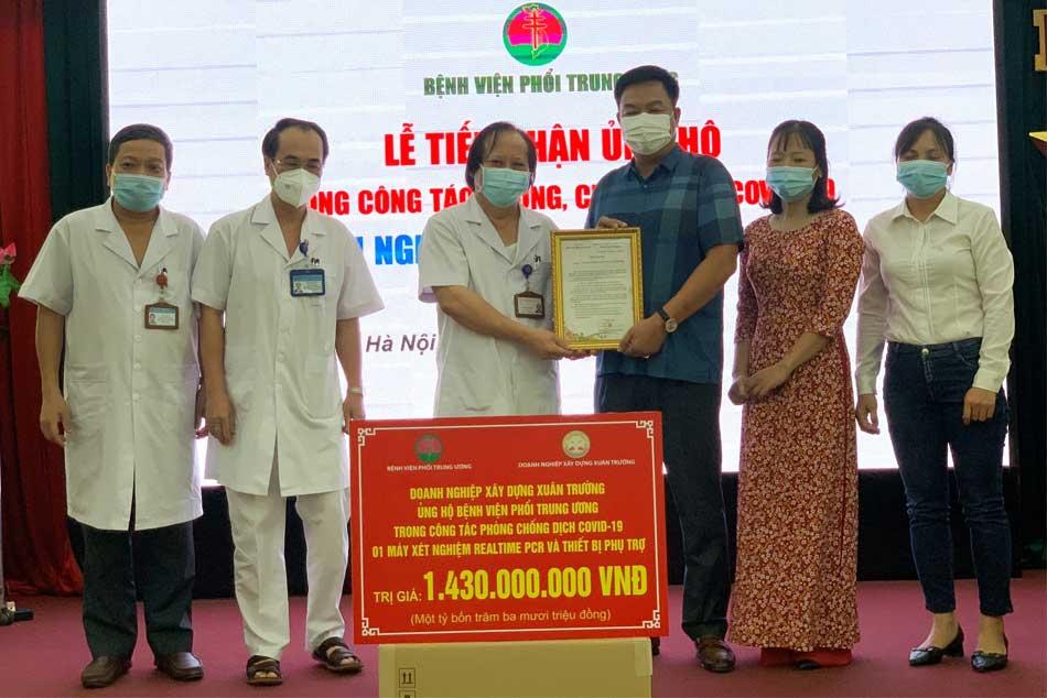 Bệnh viện phổi Trung ương được các nhà tài trợ chi phí để phòng chống dịch bệnh Covid - 19