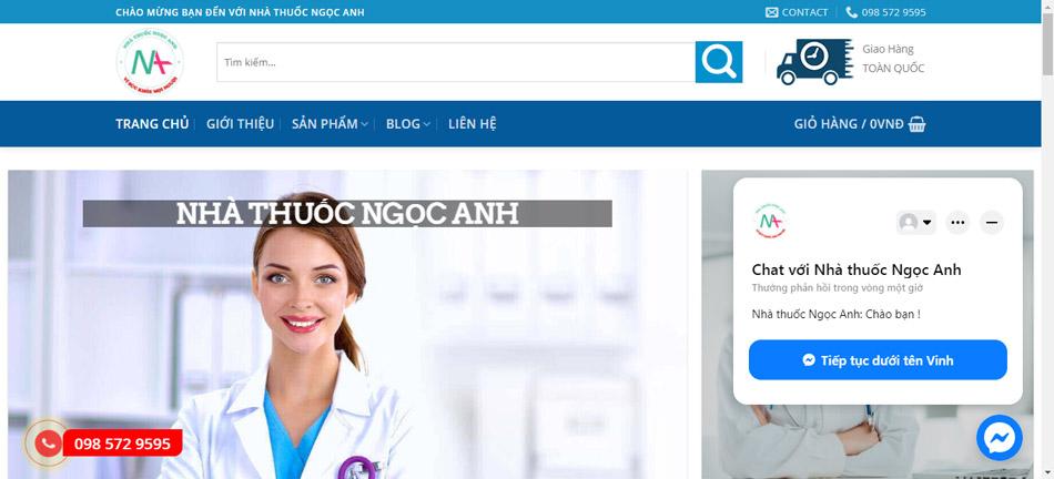 Địa chỉ website của nhà thuốc Ngọc Anh