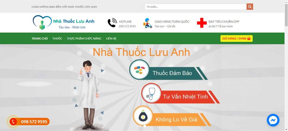 Nhà thuốc Lưu Anh được thành lập vào năm 2007 bởi dược sĩ Lưu Anh.