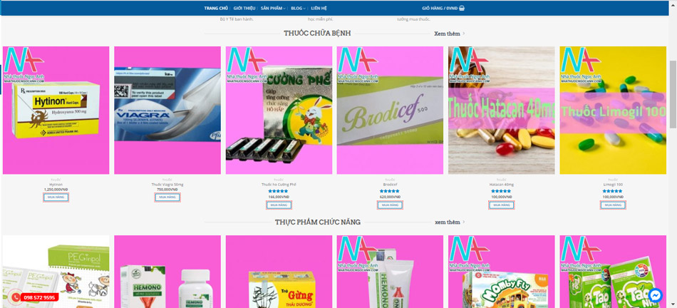 Các chính sách mua bán thuốc nhà thuốc Ngọc Anh